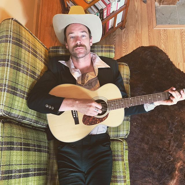 Just layin' around waiting for next Thursday when @gdaubinmusic and myself will be over at BG's Lounge in @thefillmorenola Gonna be warming up the folks before @dwightyoakam rips the whole place down. We're cooking up hot jams from 6-8pm. Come by and say hey! 🤠 📸 by Love Seat Quarterback @hannahconda7 . . . . #nolamusic #frankieboots #dwightyoakam #californiacountry #thefillmorenola #somepig