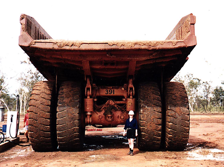 Me and my 150 tonne dump truck in Australia.