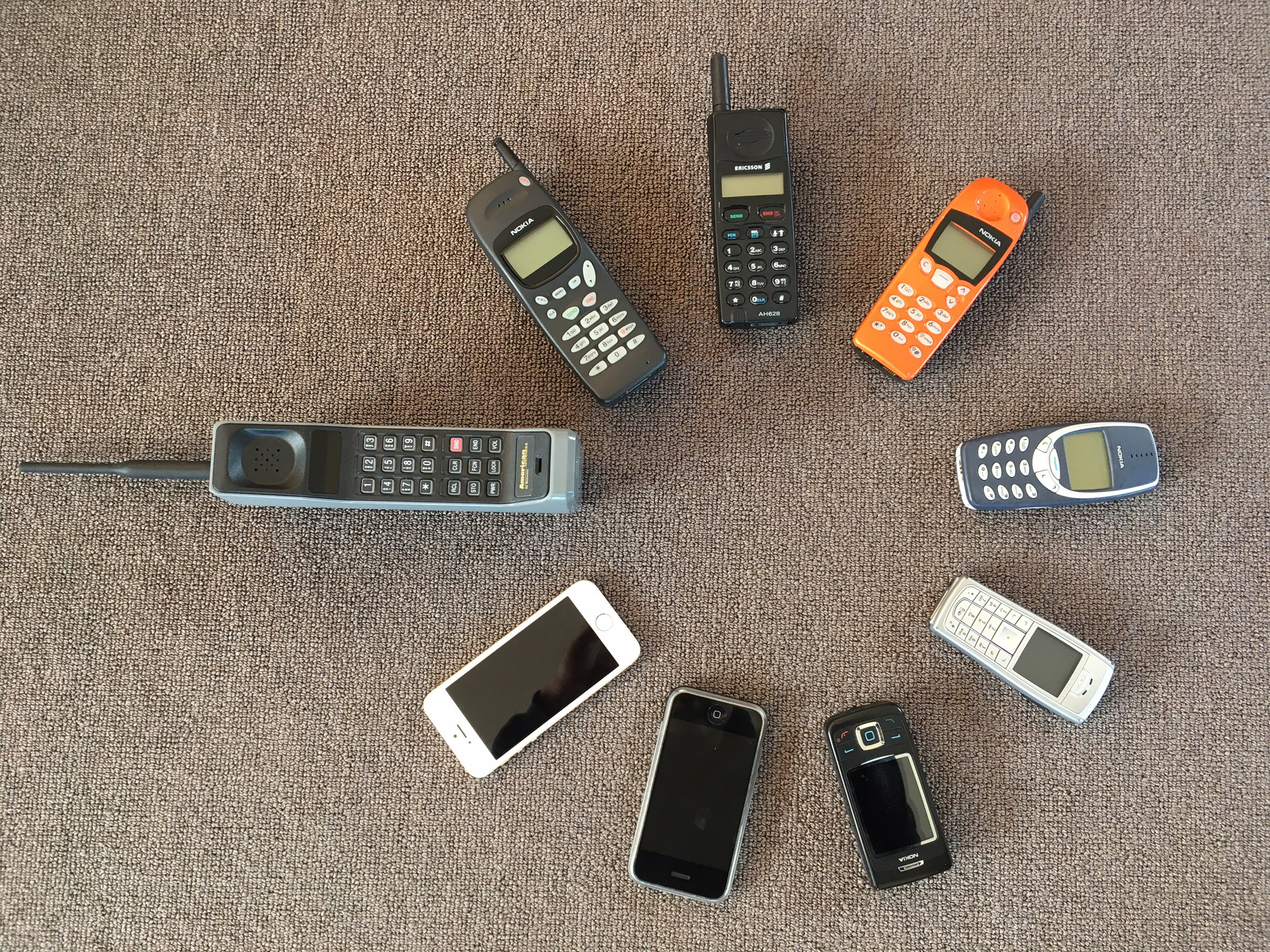 Just some of the phones we have used over the years.