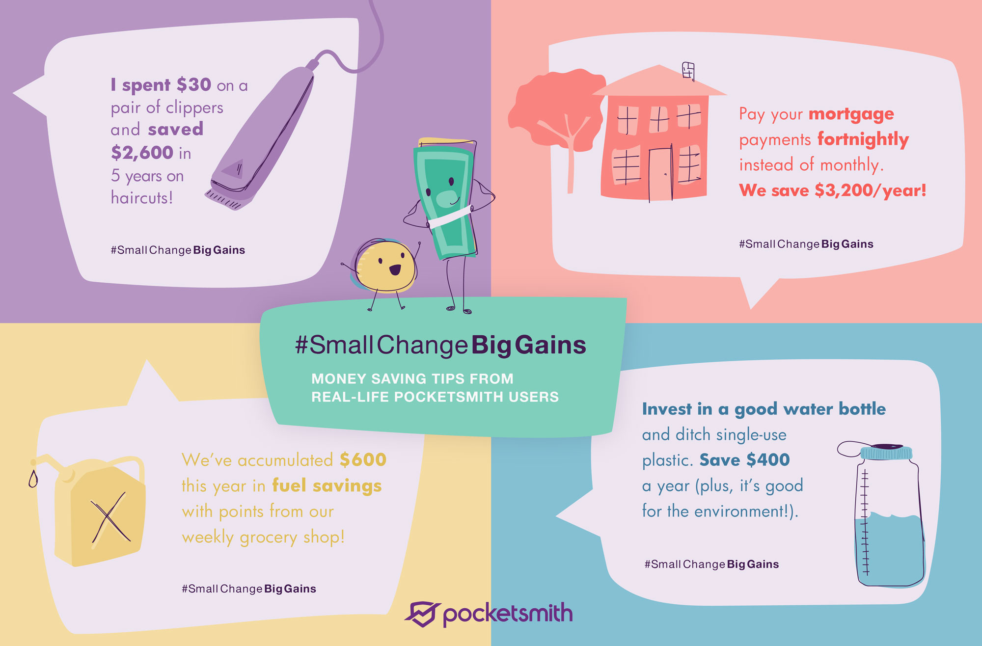 PocketSmith Small Change Big Gains