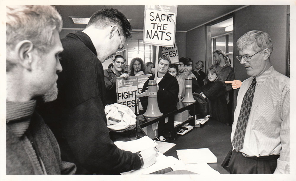 Here I am protesting. Those were the days! Photo: ODT