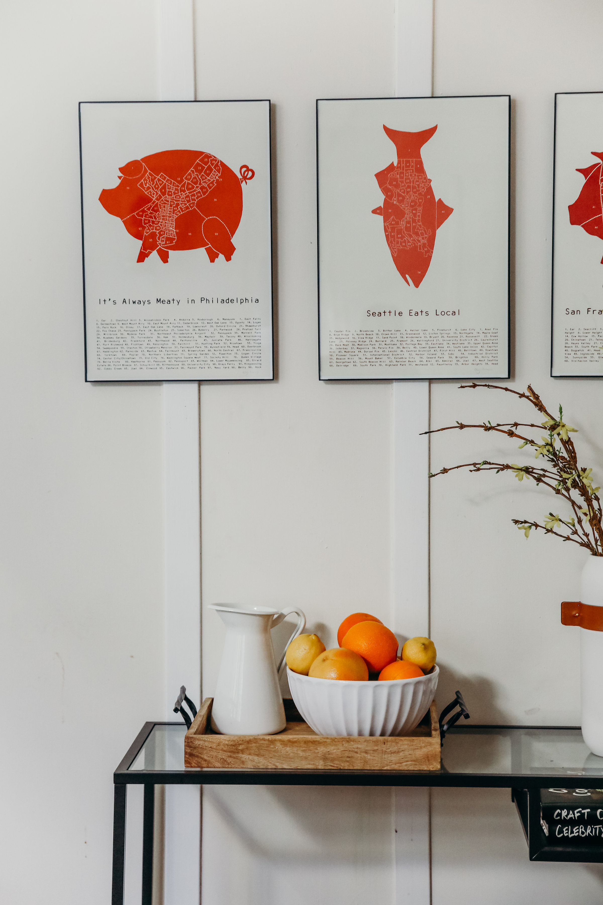 oranges and dining room styling | Hillary Jeanne Photography