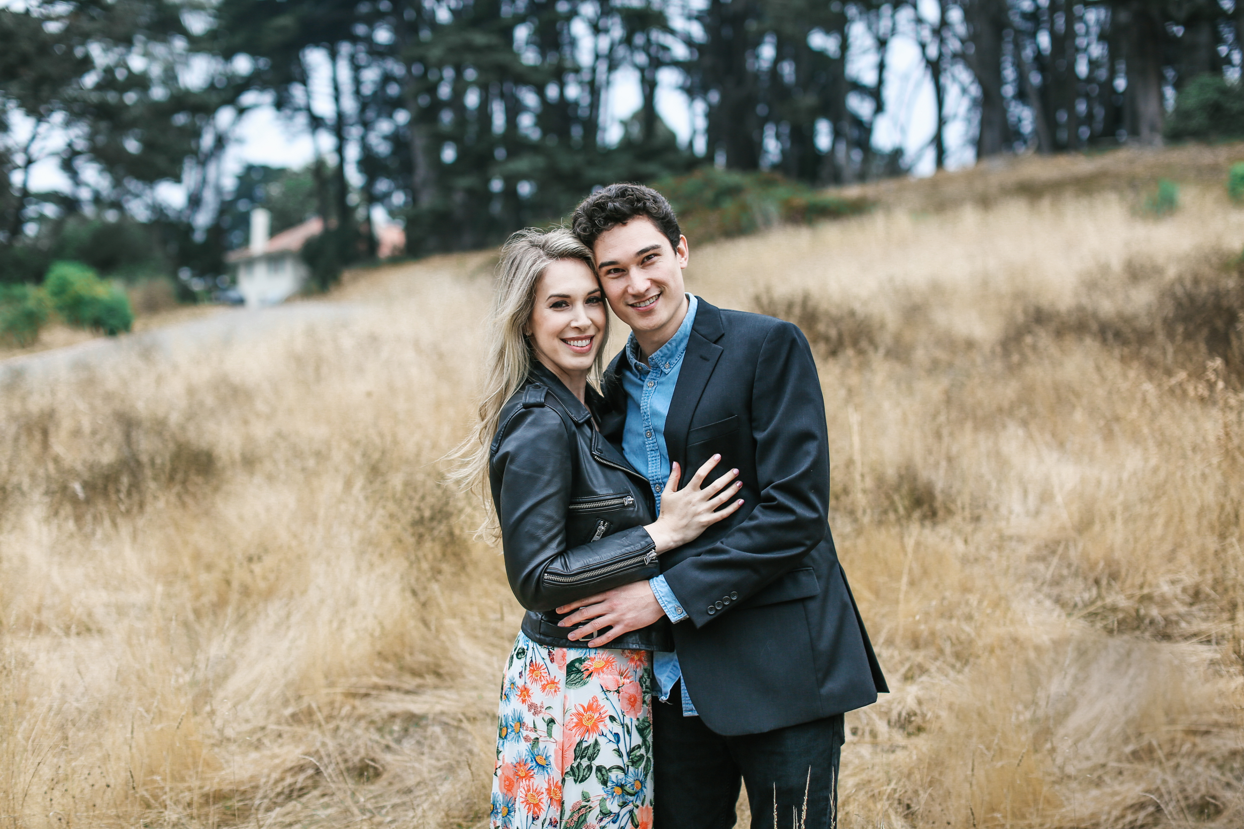 San Francisco engagement session in the Presidio