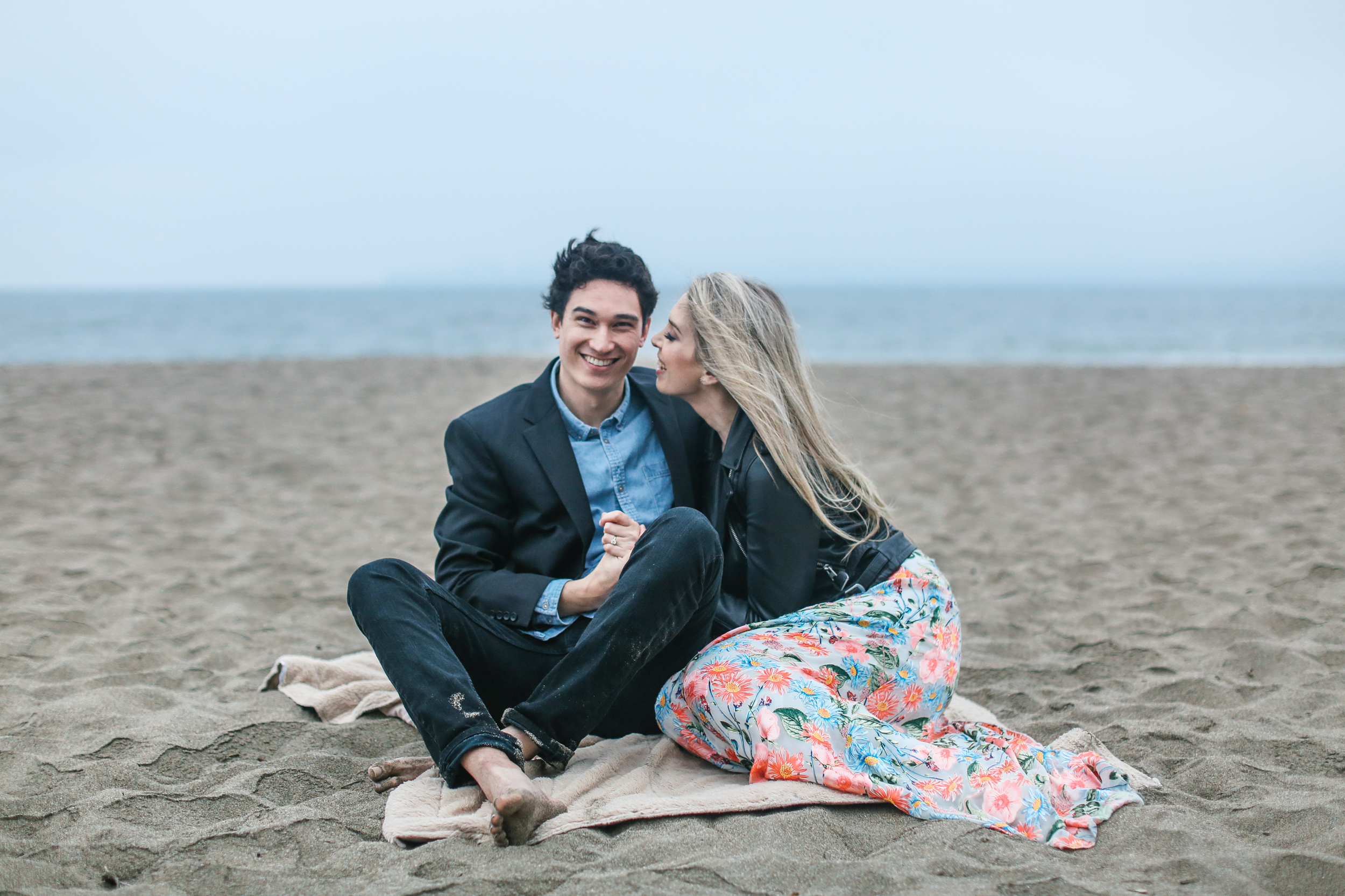 San Francisco engagement session at Baker Beach