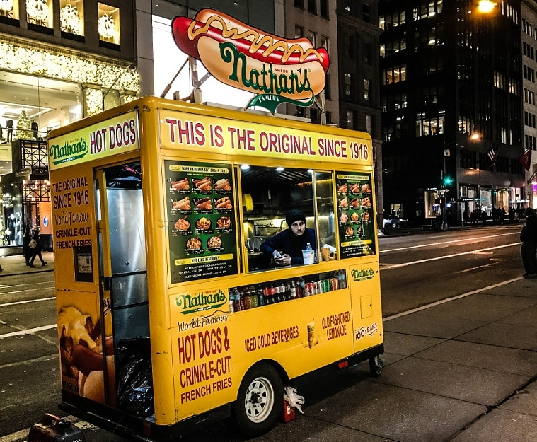 Nathan's Famous NYC Food Cart