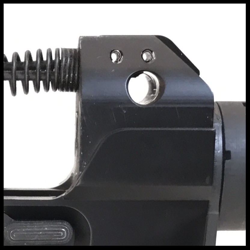 Recoil Spring  The stock recoil spring mount must be removed to allow it to sit in the pocket of the lower receiver.