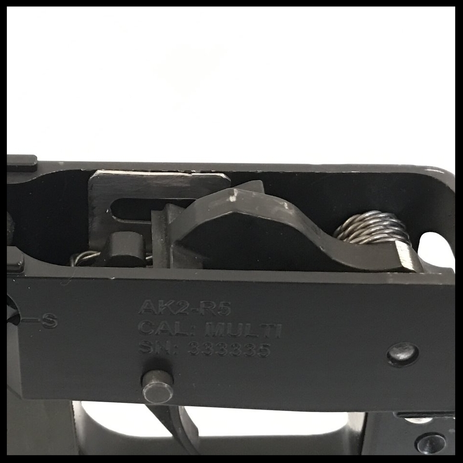 Trigger  The provided trigger safety extension can be welded or bolted onto the stock trigger.
