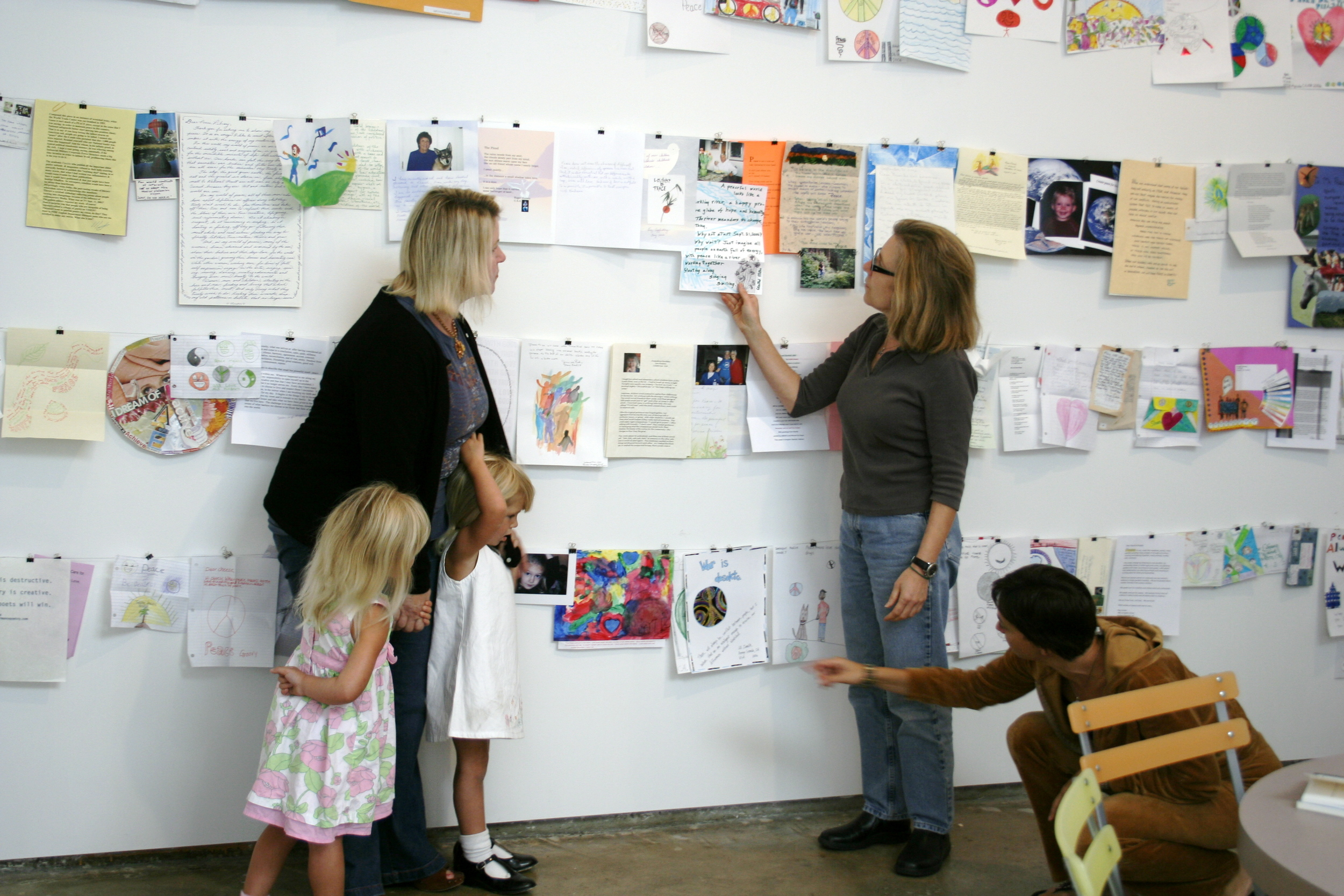 Letters for Peace | gallery installation ARTS  Space  Obispo