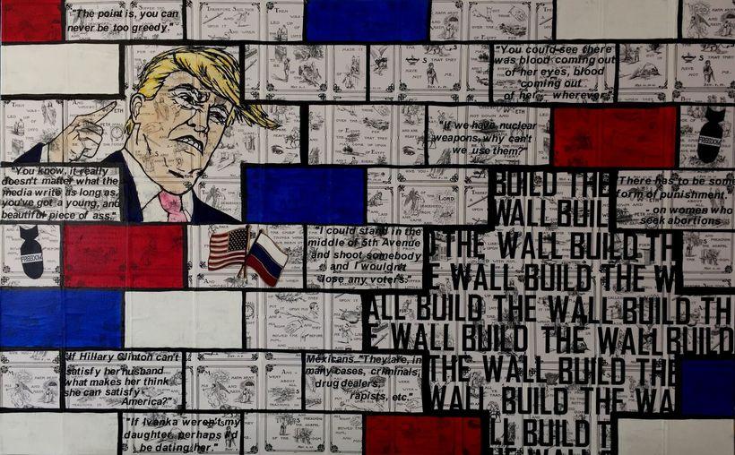 IMAGE COURTESY OF THE ARTISTBuild the Wall by Karen Guttfreund