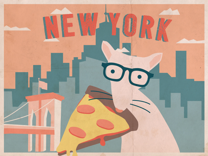 This is a caption: it's pizza rat!