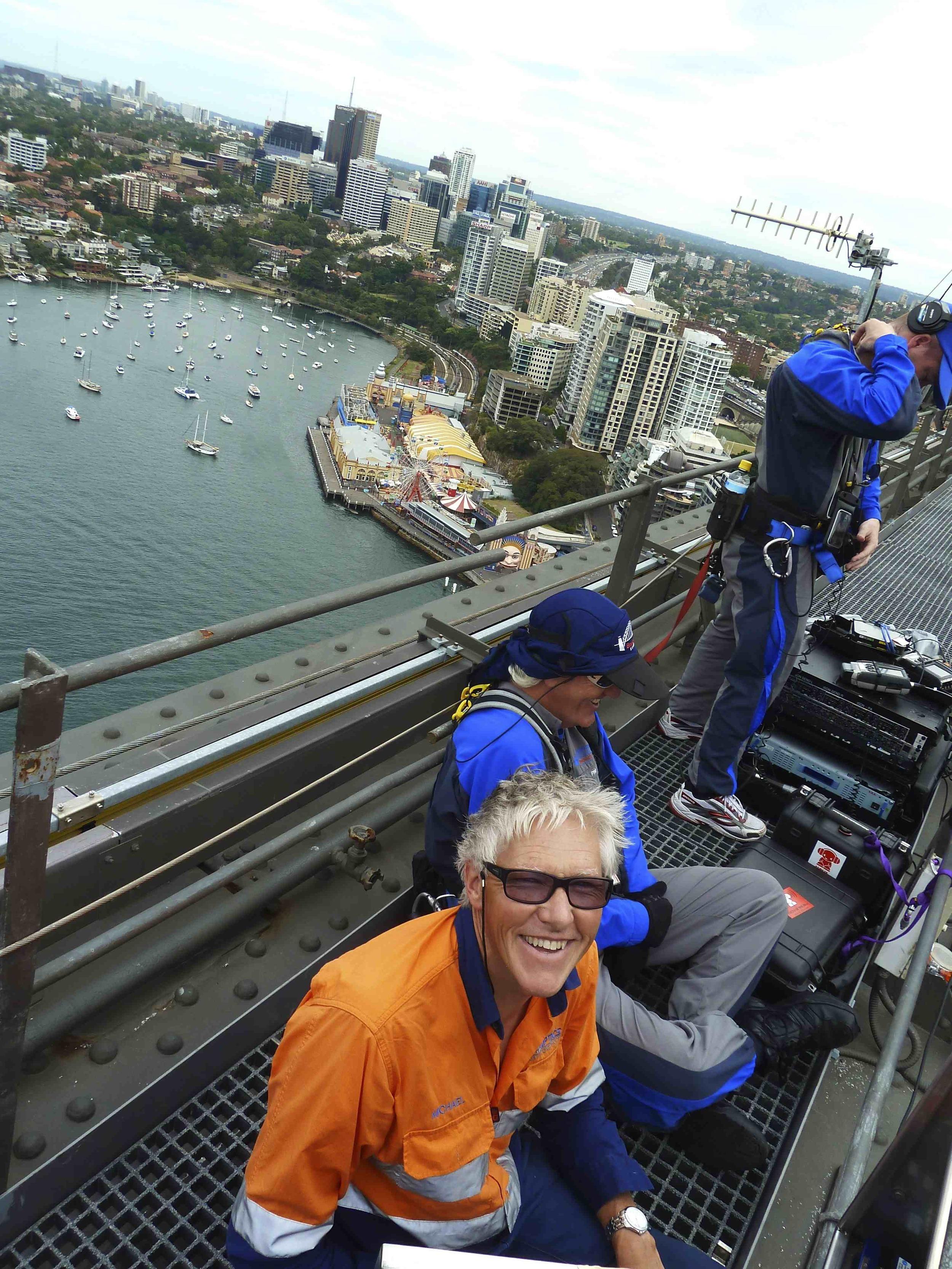 COnnecting fibre on the sydney harbour bridge