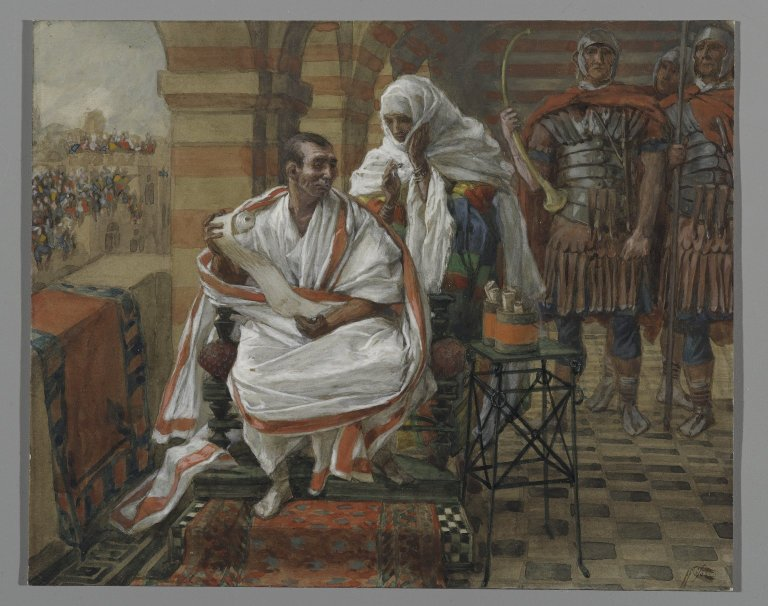 The Message of Pilate's Wife  by James Tissot