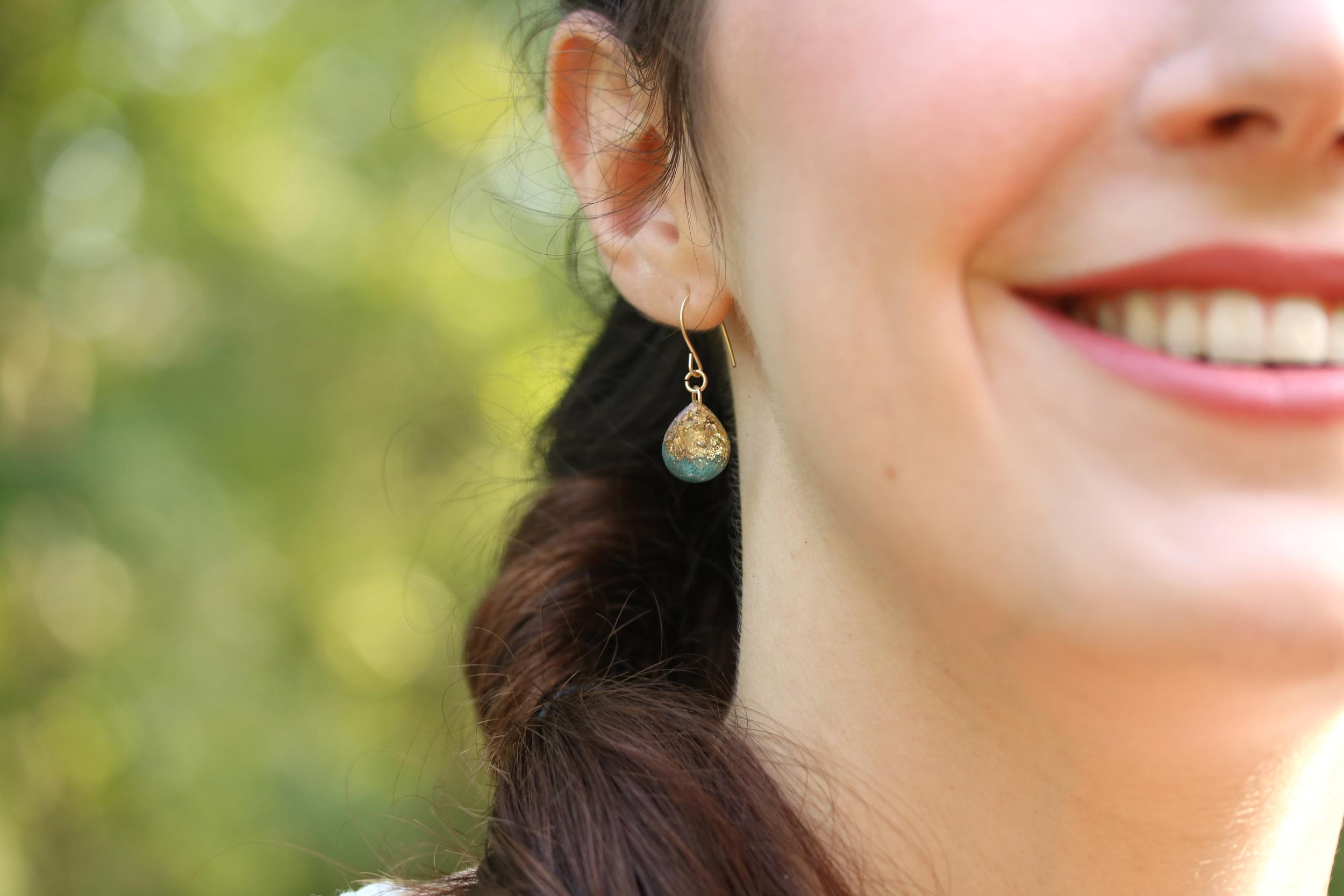 regular size teardrop earrings