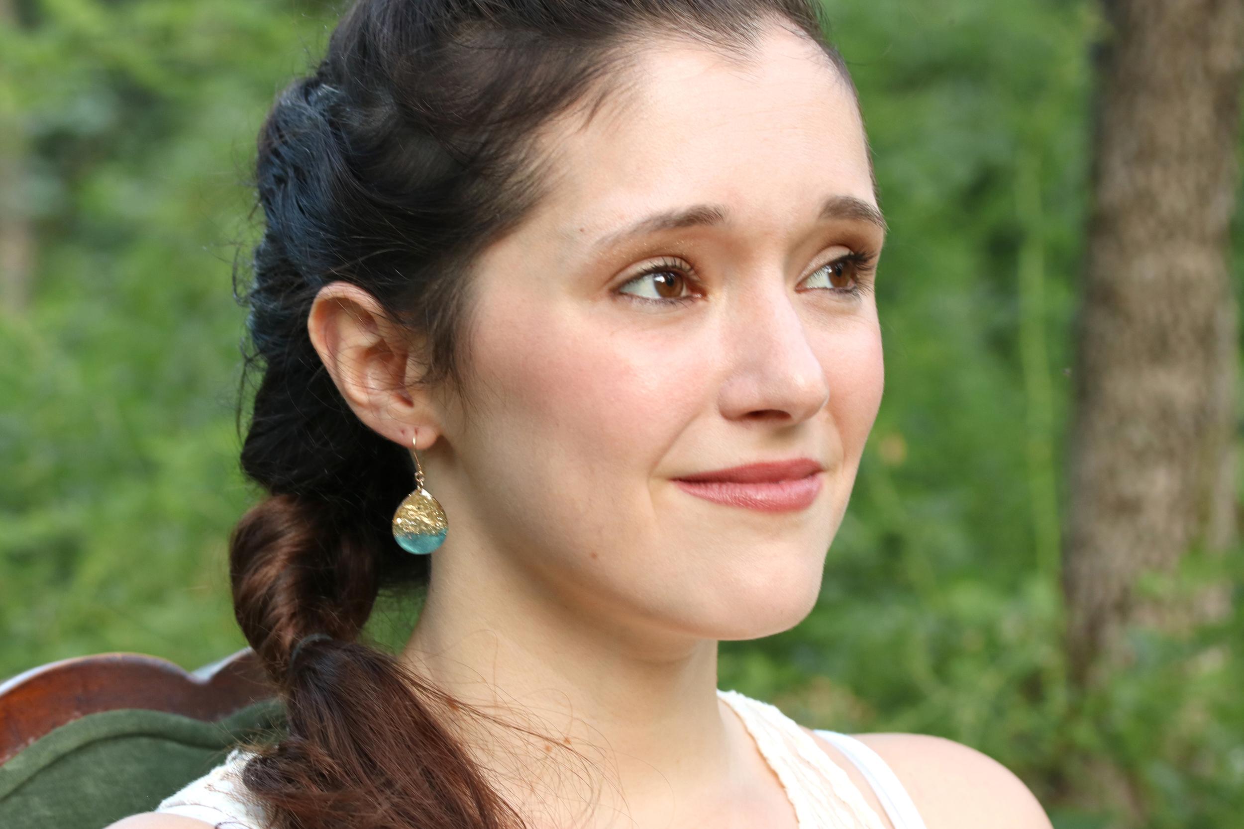 large size teardrop earrings
