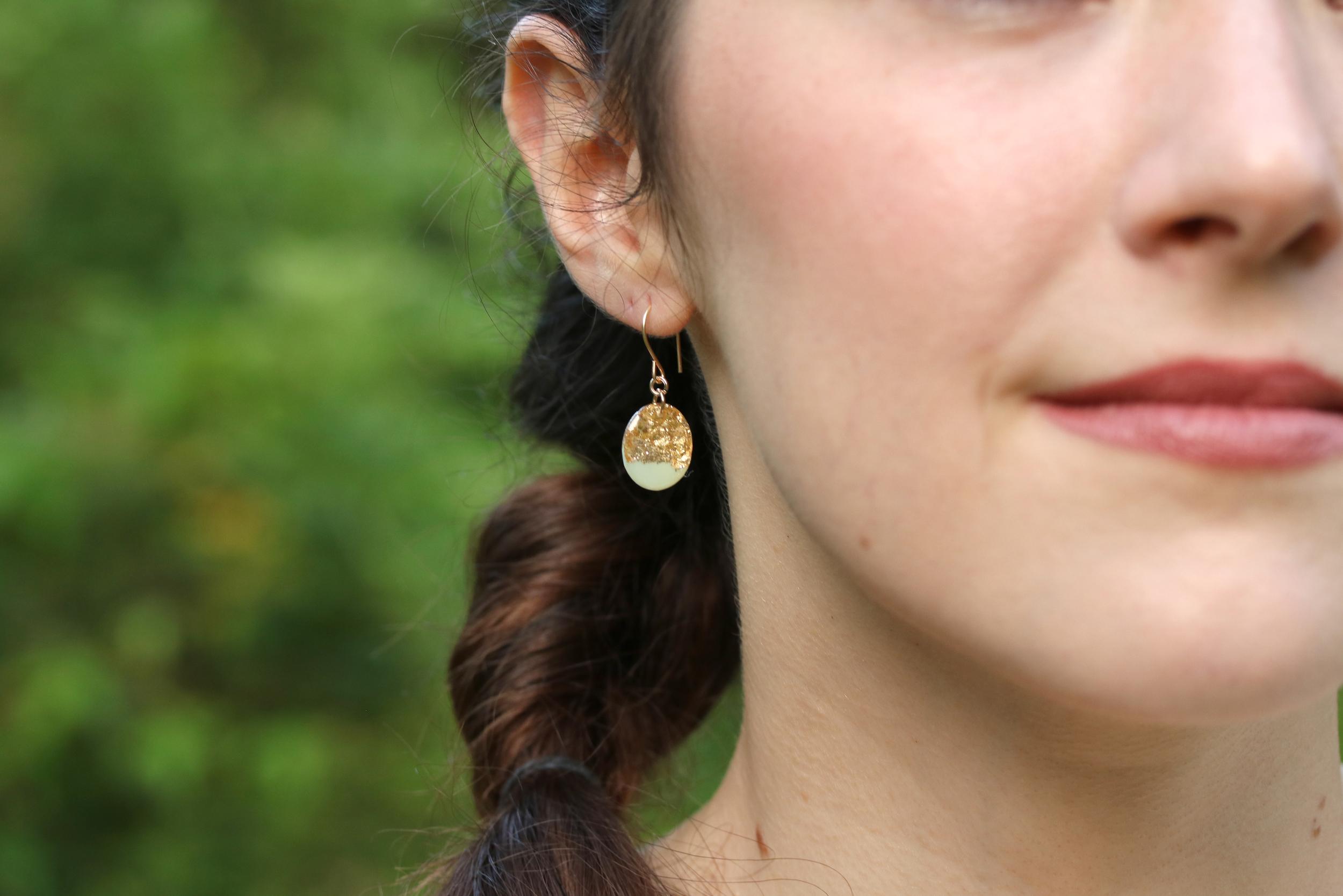 oval earrings