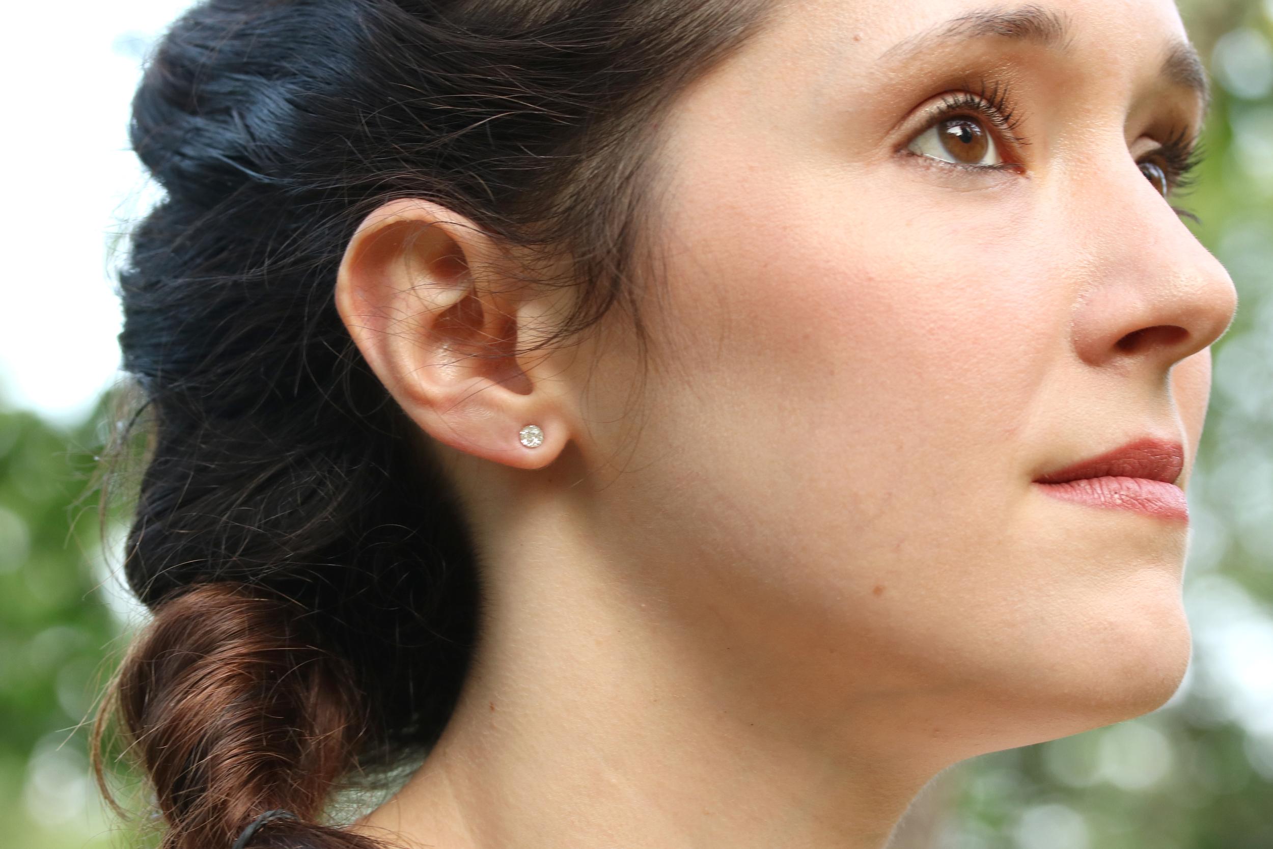 super tiny post earrings