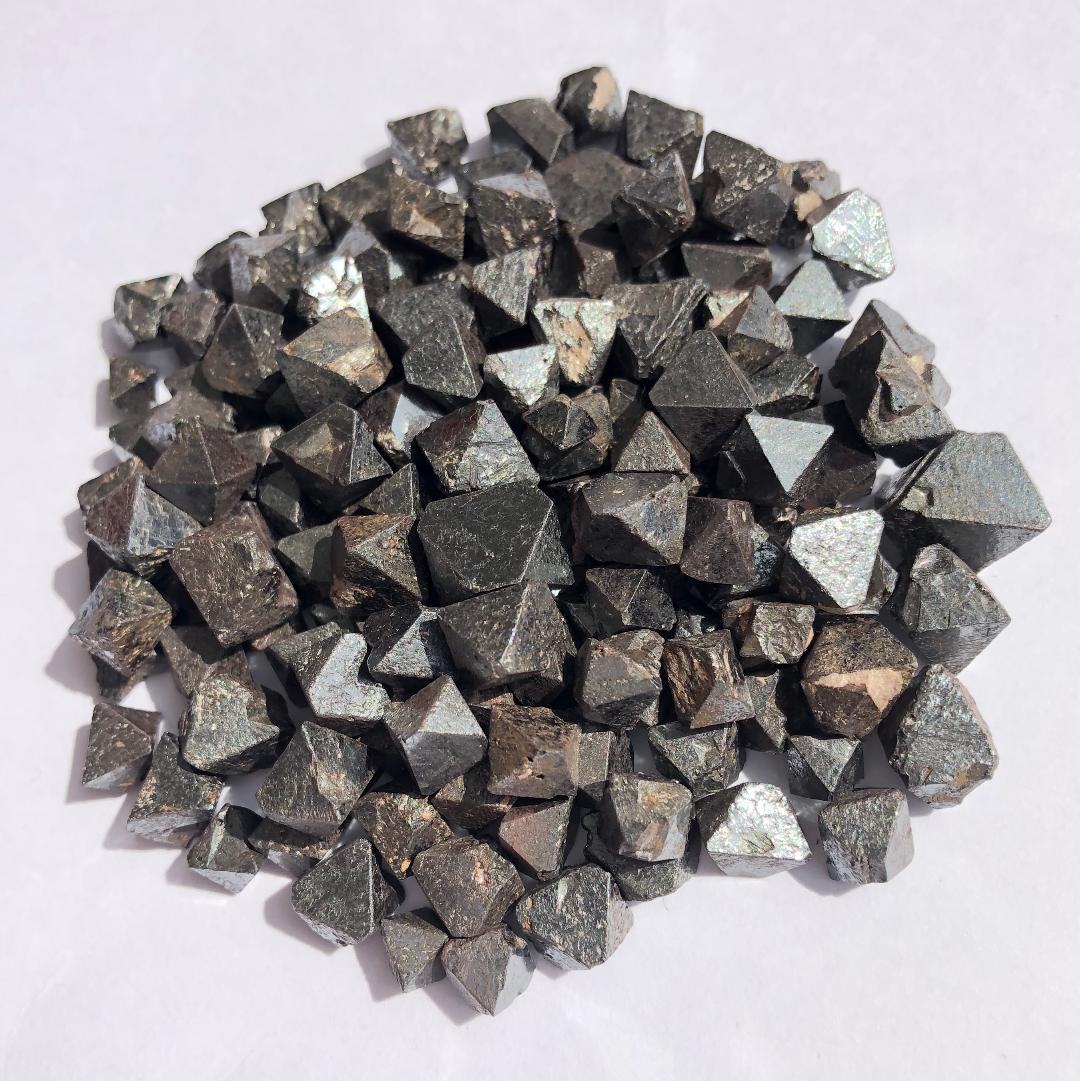 "Octahedronal magnetite, aka ""lodestone""."