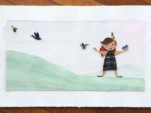 """I want to wear a rainbow, please."" 🦜🦜🦜 . #birds #birdwatching #childrensbookillustration #francescasimon #gouache #handdrawn #illo #illustration #illustratorsoninstagram #painting #paperart #papercutart #picturebooks #sallyandillustration #sketch #watercolor #watercolour"