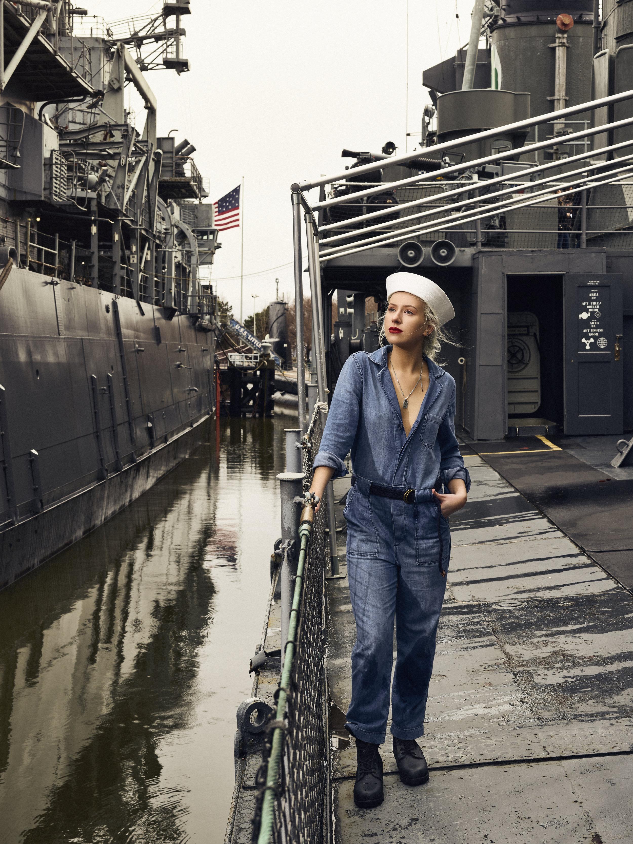 Navy inspired fashion shoot.  USS Little Rock, Buffalo, NY  PhaseOne XF 100MP