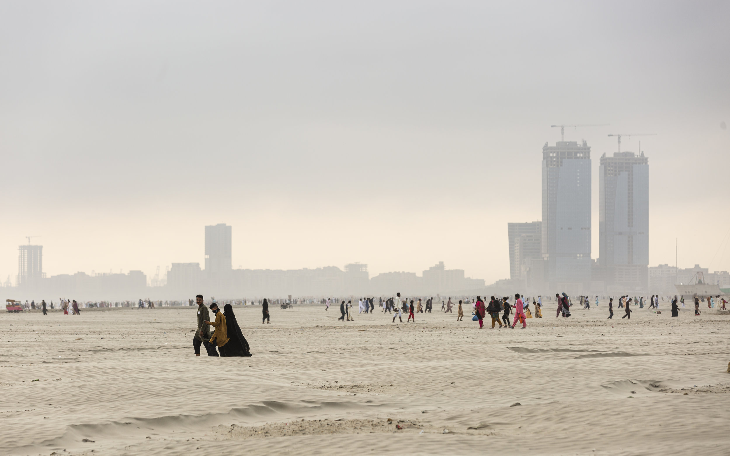 Locals gather to celebrate Eid on Clifton Beach, more commonly known as Seaview.