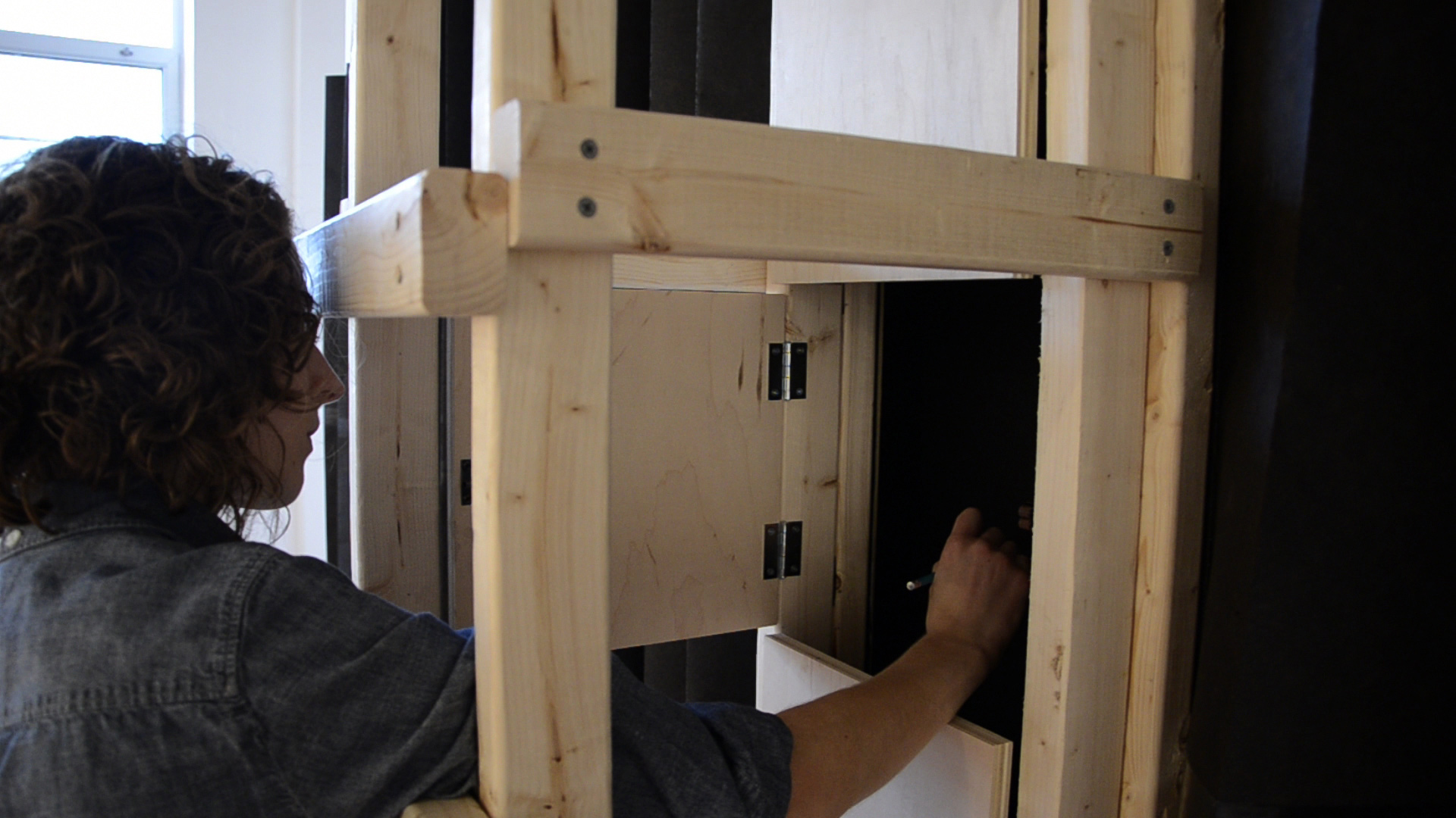 detail, Ladder to a Door , 2013. Pictured at Lorton Workhouse Art Center, Lorton, VA.