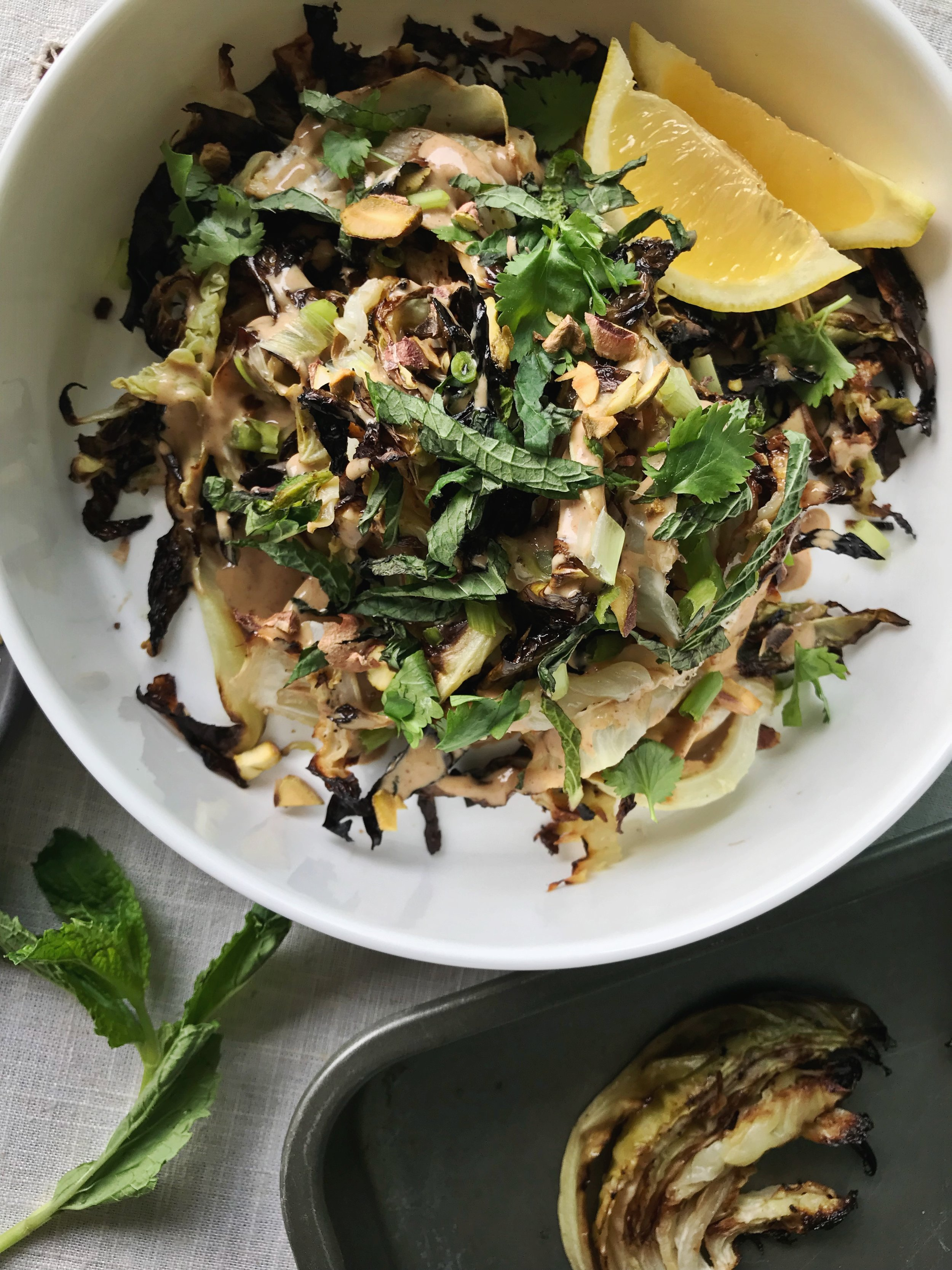 24hourkitchen-recipes-vegetarian-whole30-roasted-cabbage-herbed-almond-sauce
