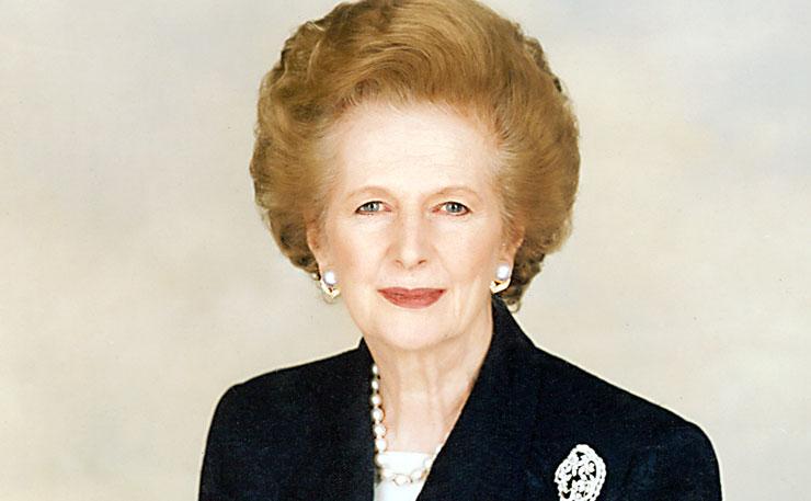 Former British Prime Minister, Margaret Thatcher.