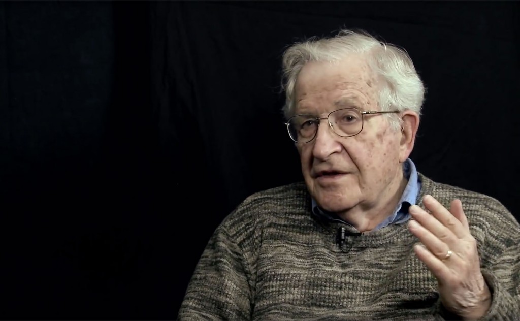 Renowned intellectual Noam Chomsky.