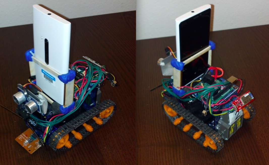 A smartphone controlled Grunt that used the phones camera to drive the grunt towards a moving target.