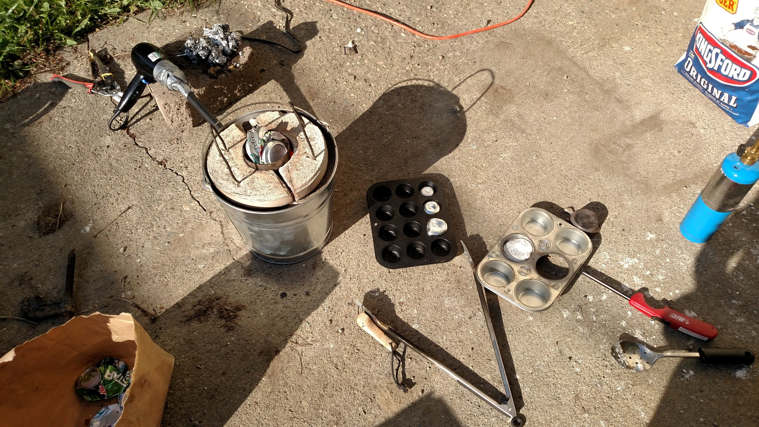 I made a foundry for casting and heat treating.