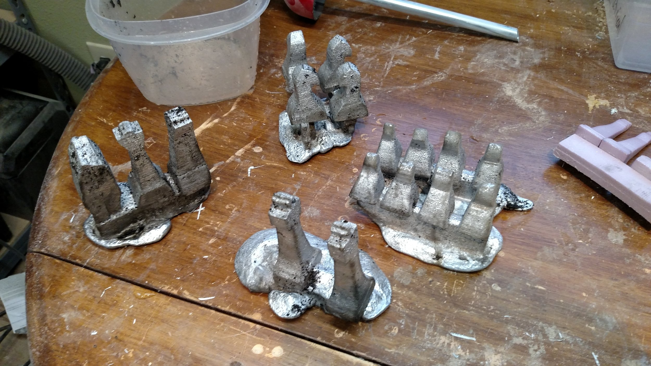 I cast a chess set out of aluminum.