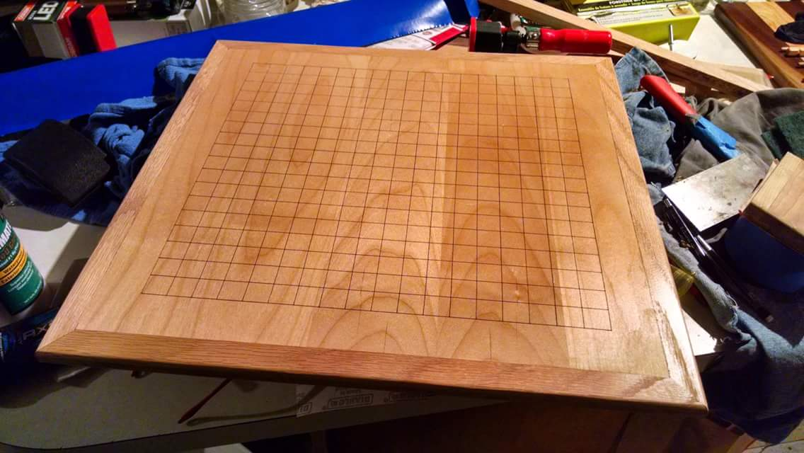 And a laser cut Go board on the other.