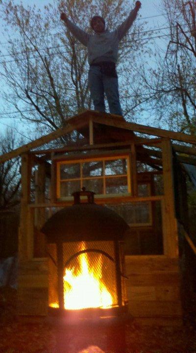 Mid chicken coop build.