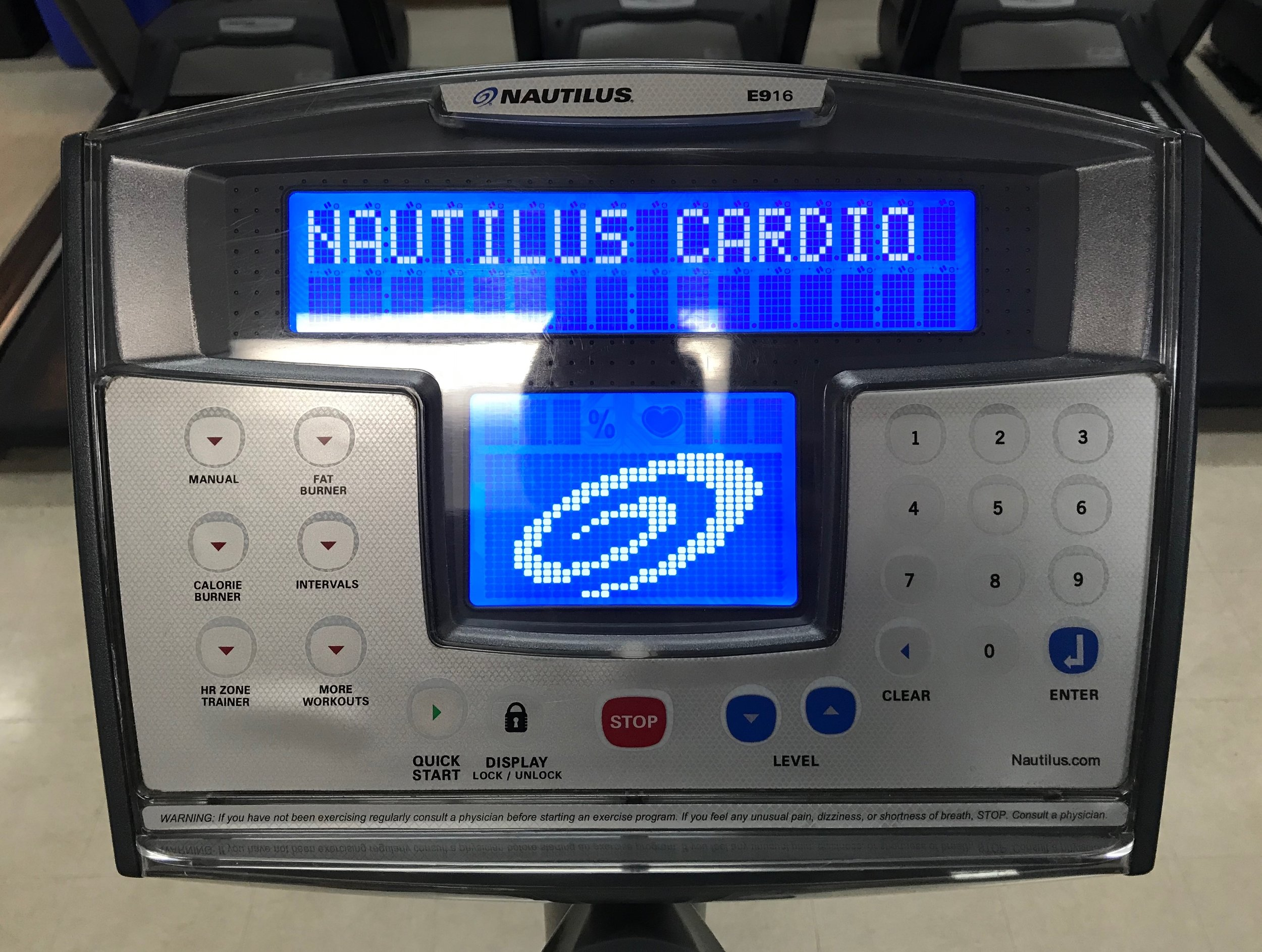 Nautilus E916 User Interface