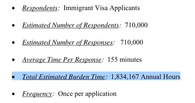 immigrant visa applicants