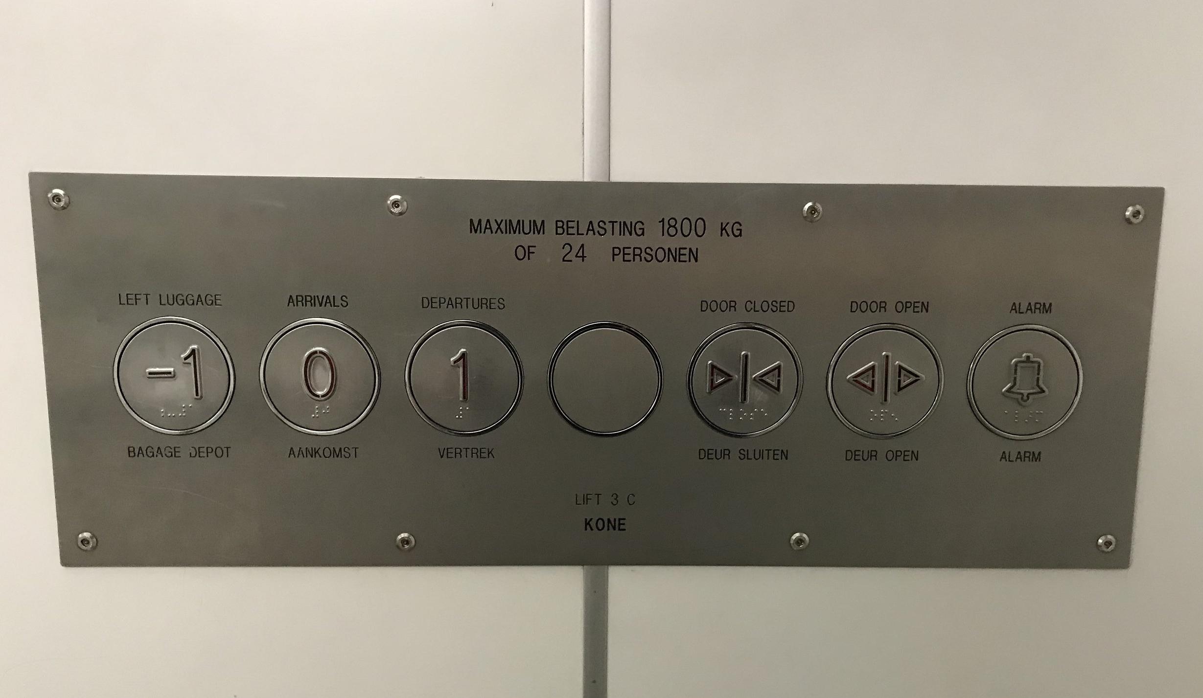 horizontal elevator buttons