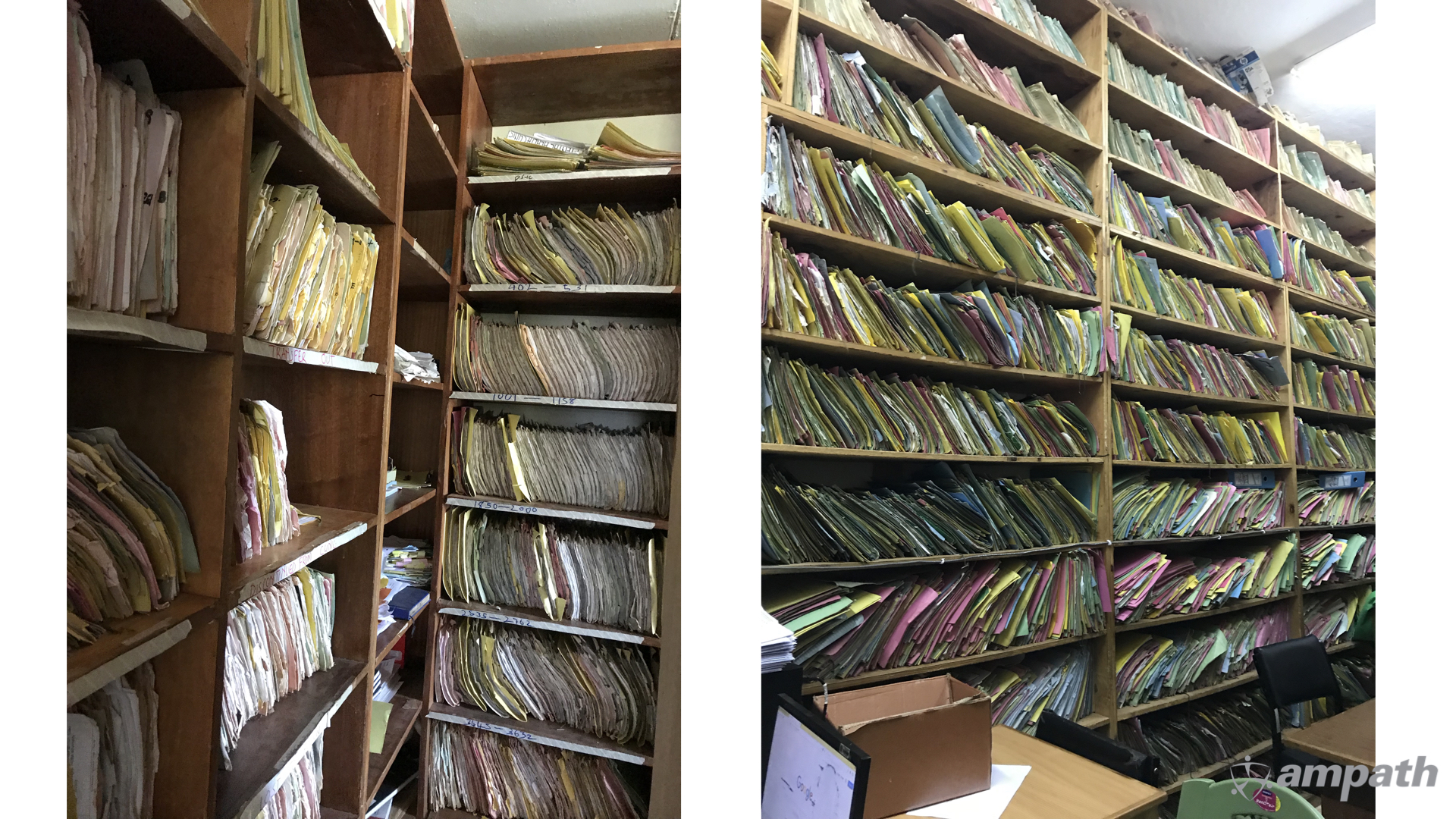 Some AMPATH record rooms held 5000 patient files per room.