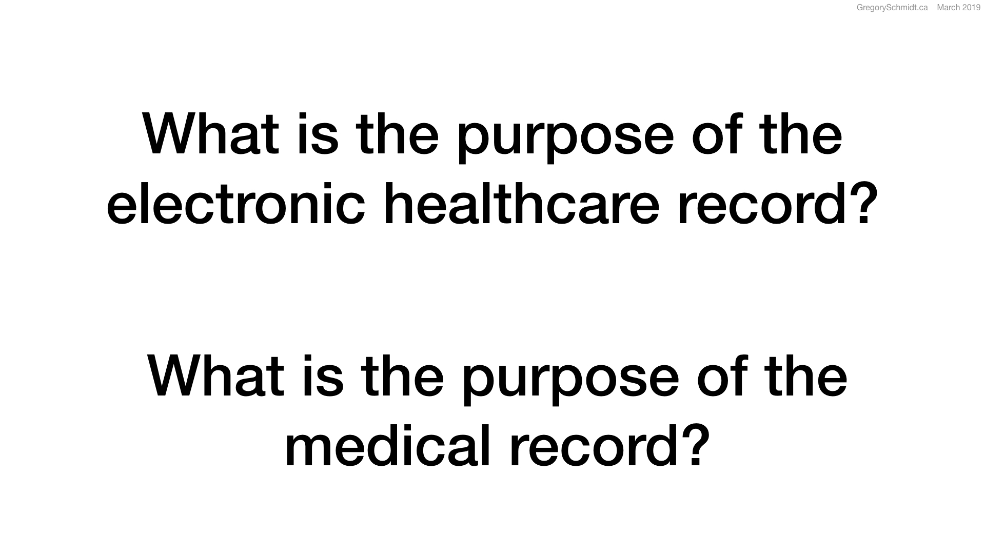 what is the purpose of the medical record?