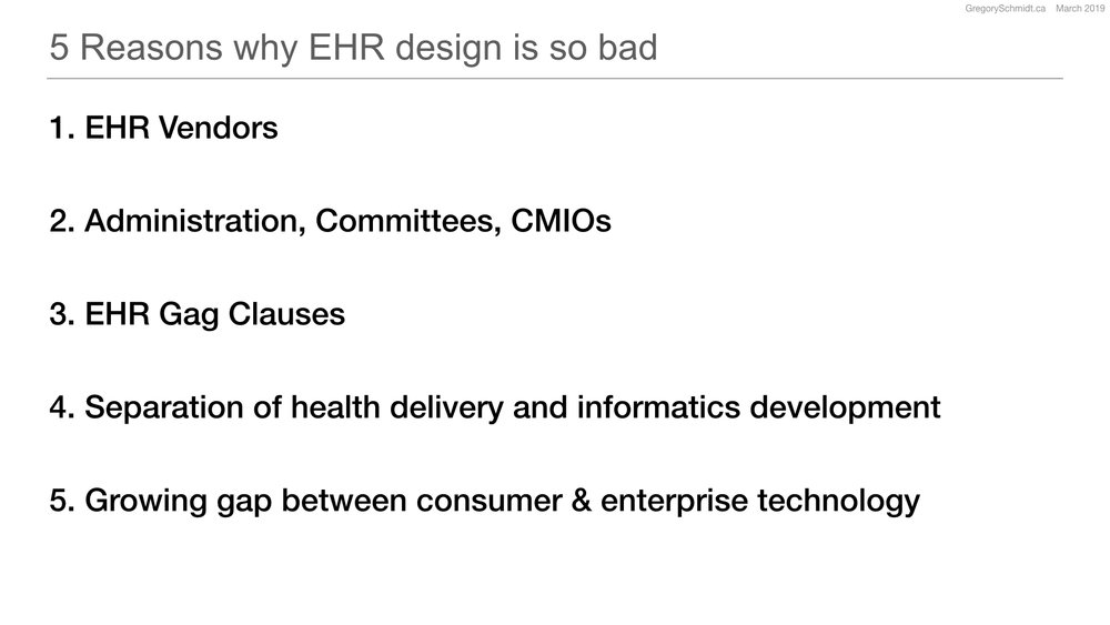 The Role of Design in Electronic Health Records: Past
