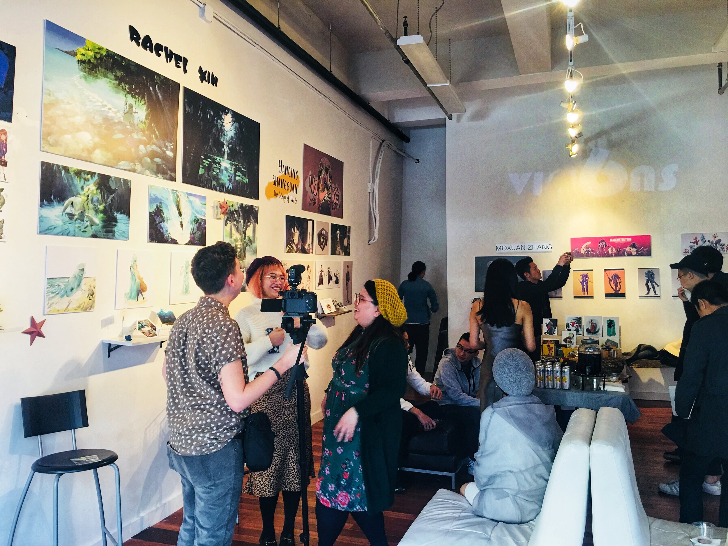 6 VISIONS Art Exhibition, Opening Day, Mar 16th 2019