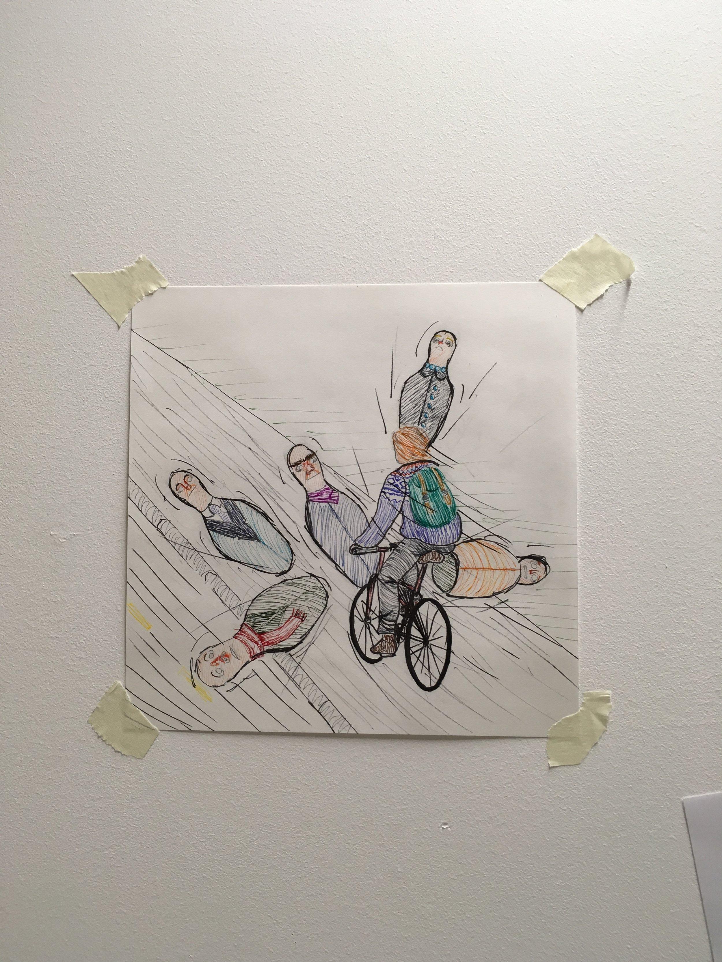 Frank Rossarvik kunne neppe bedt om en bedre illustrasjon til kommentaren « Pesten på to hjul ».