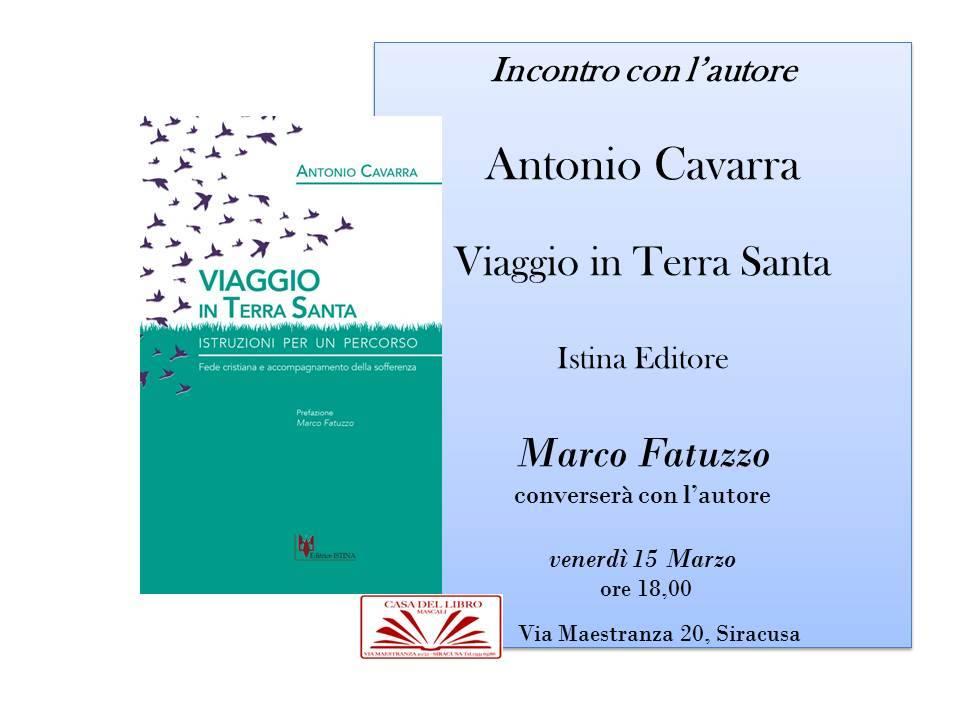 incontro con Antonio Cavarra La Casa del Libro Siracusa Ortigia