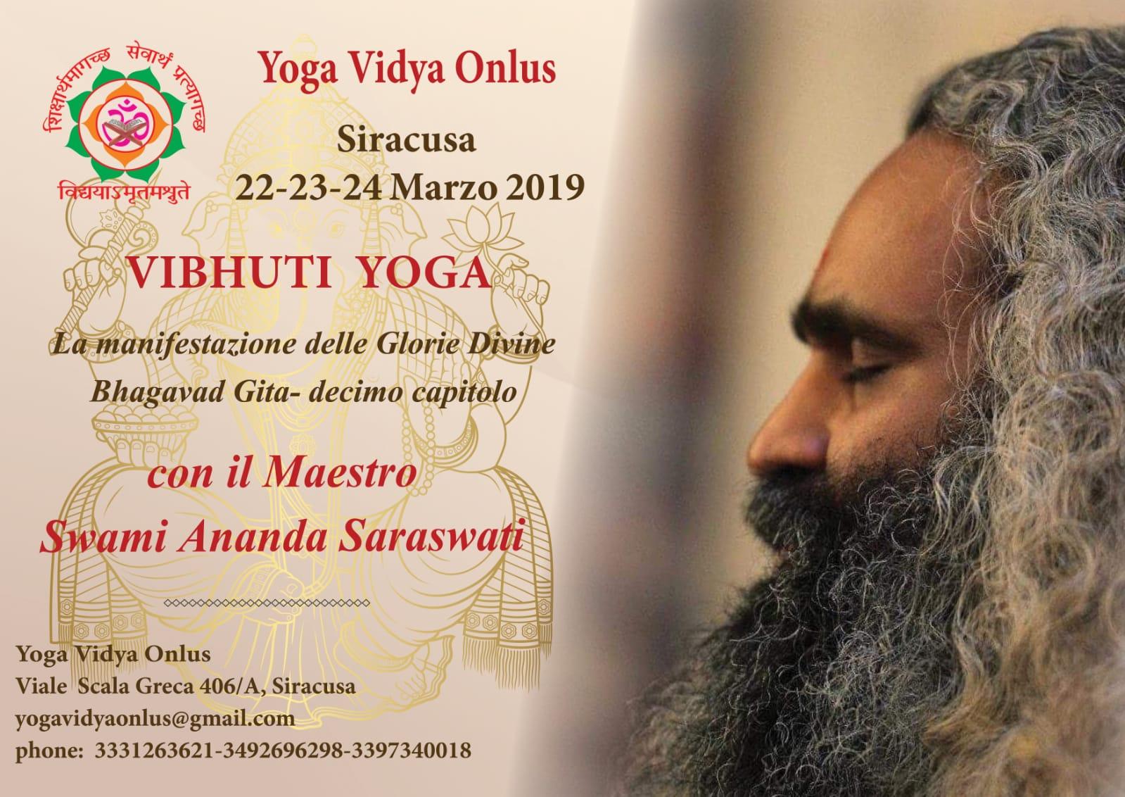 La manifestazione delle glorie divine Bhagavad gita-siracusa