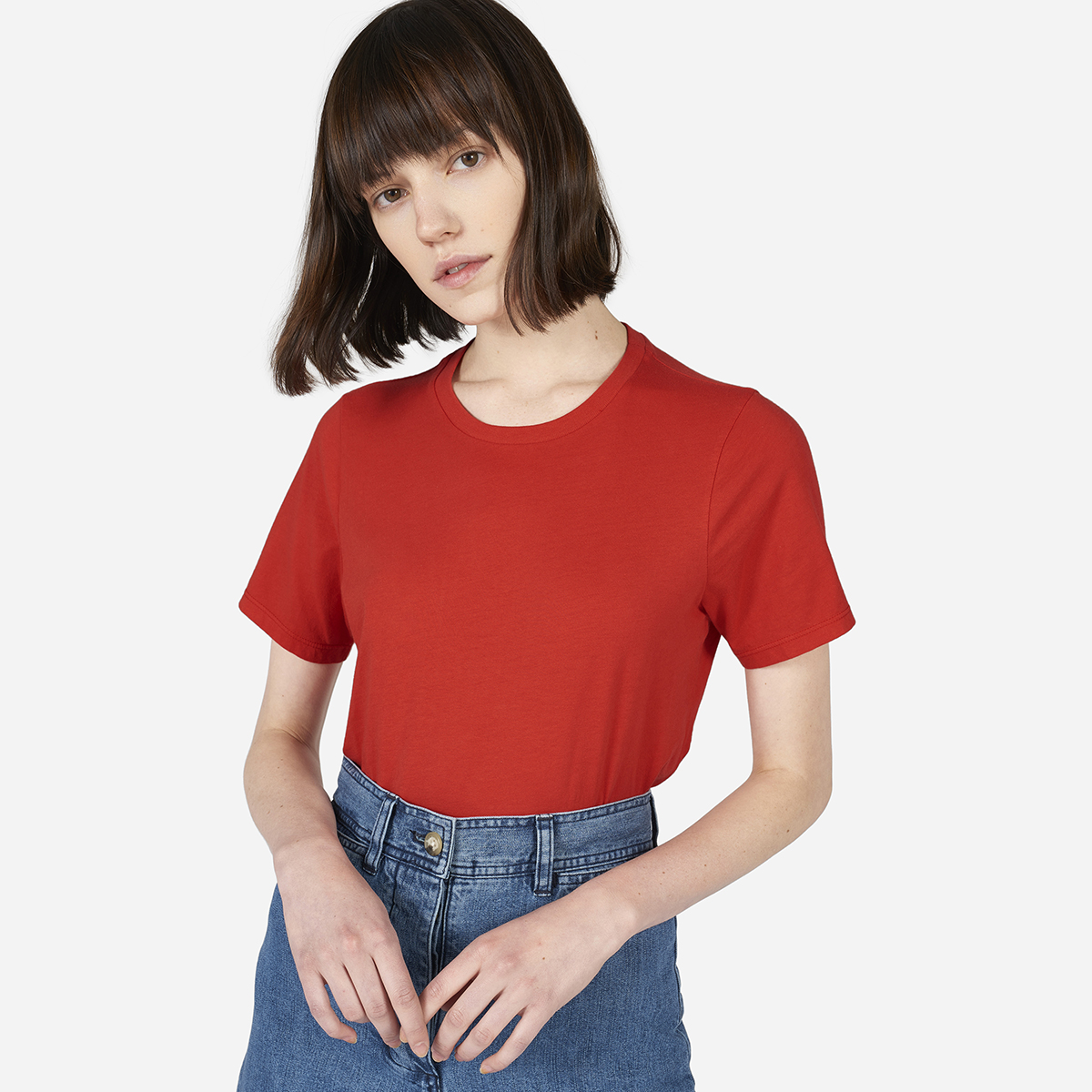 Everyone Classic Crew T-shirt in Red USD $18