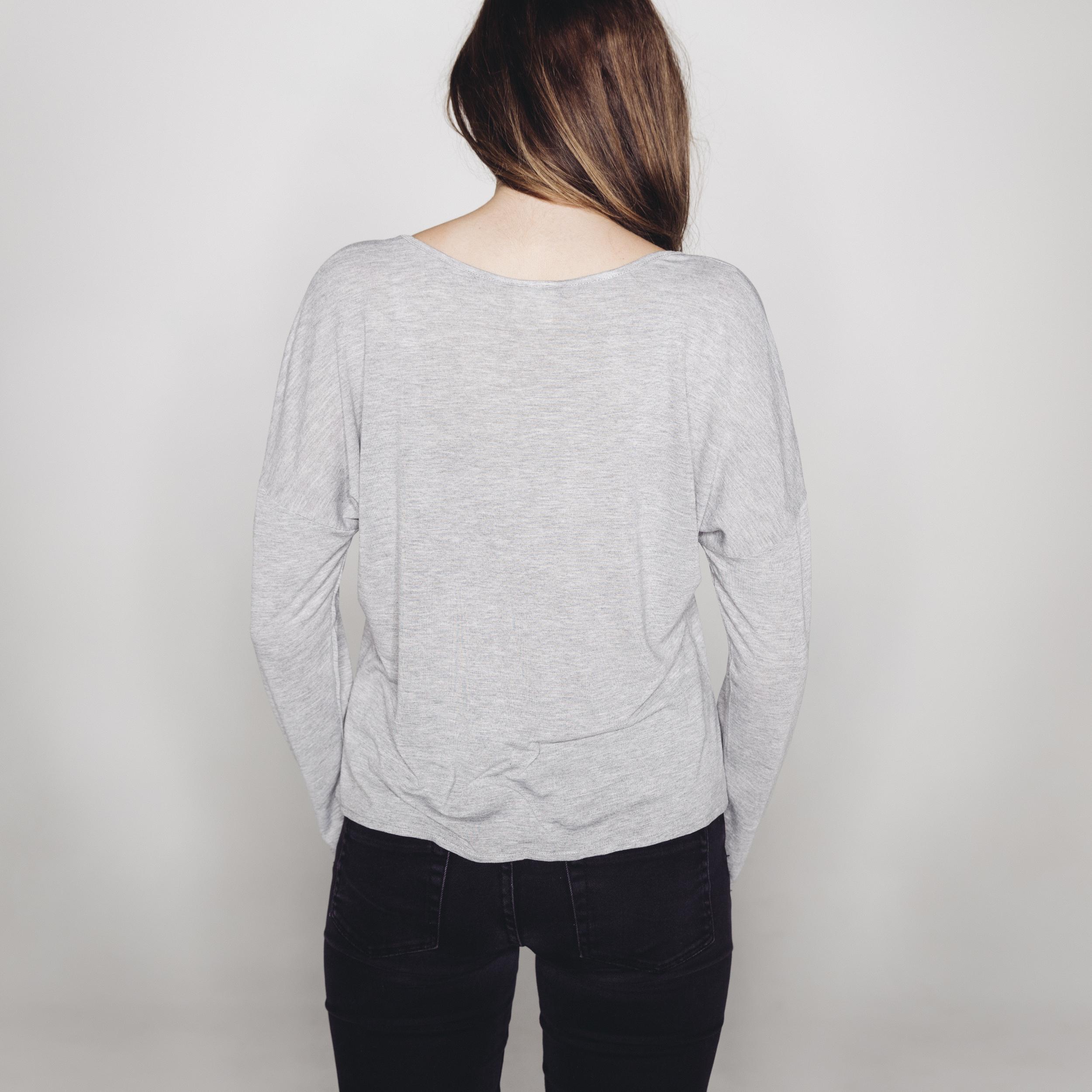 Dorsu Slip On Long Sleeve - Grey   AUD $39