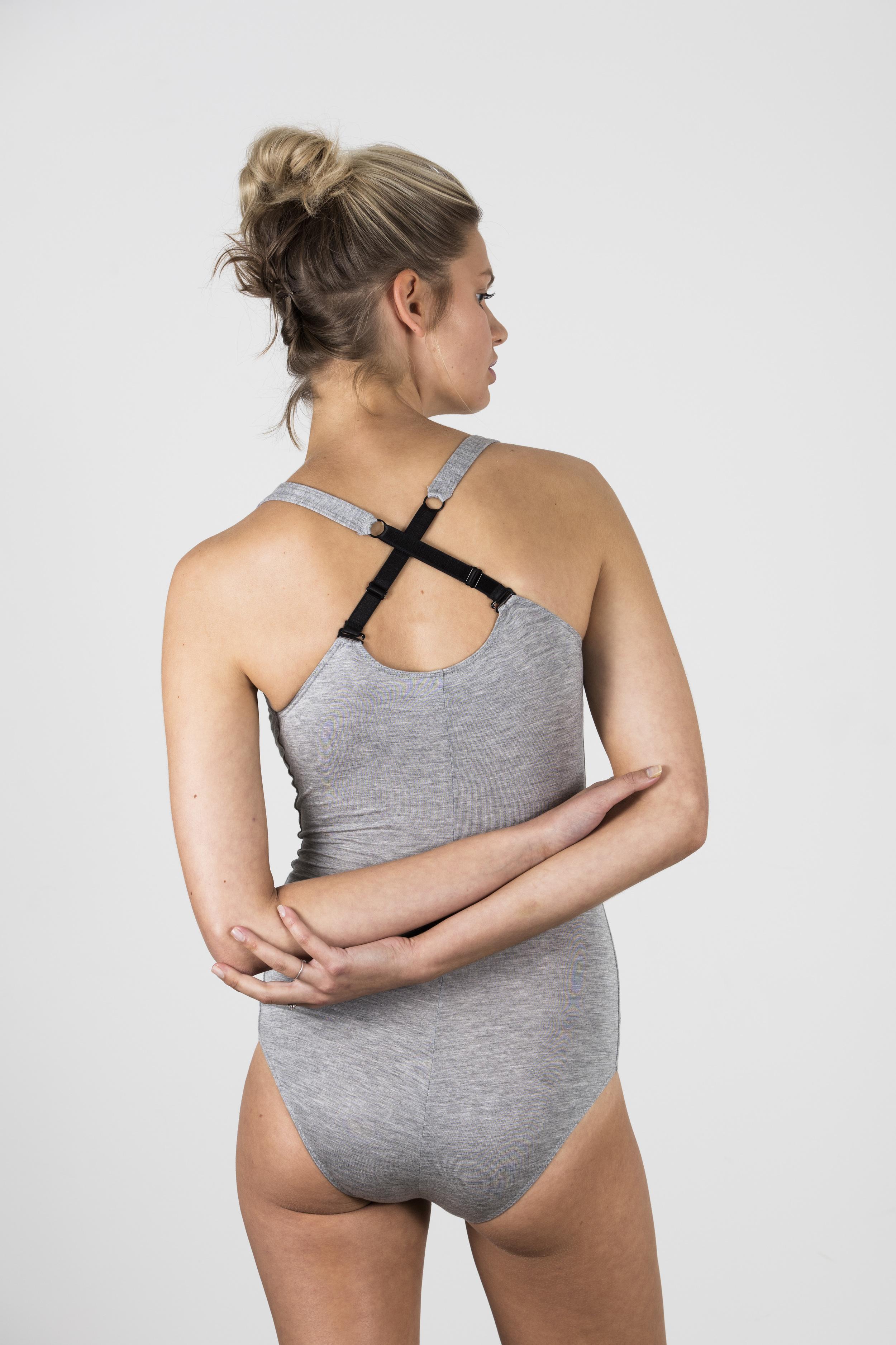 Body Suit Grey Marle (NZD $73)