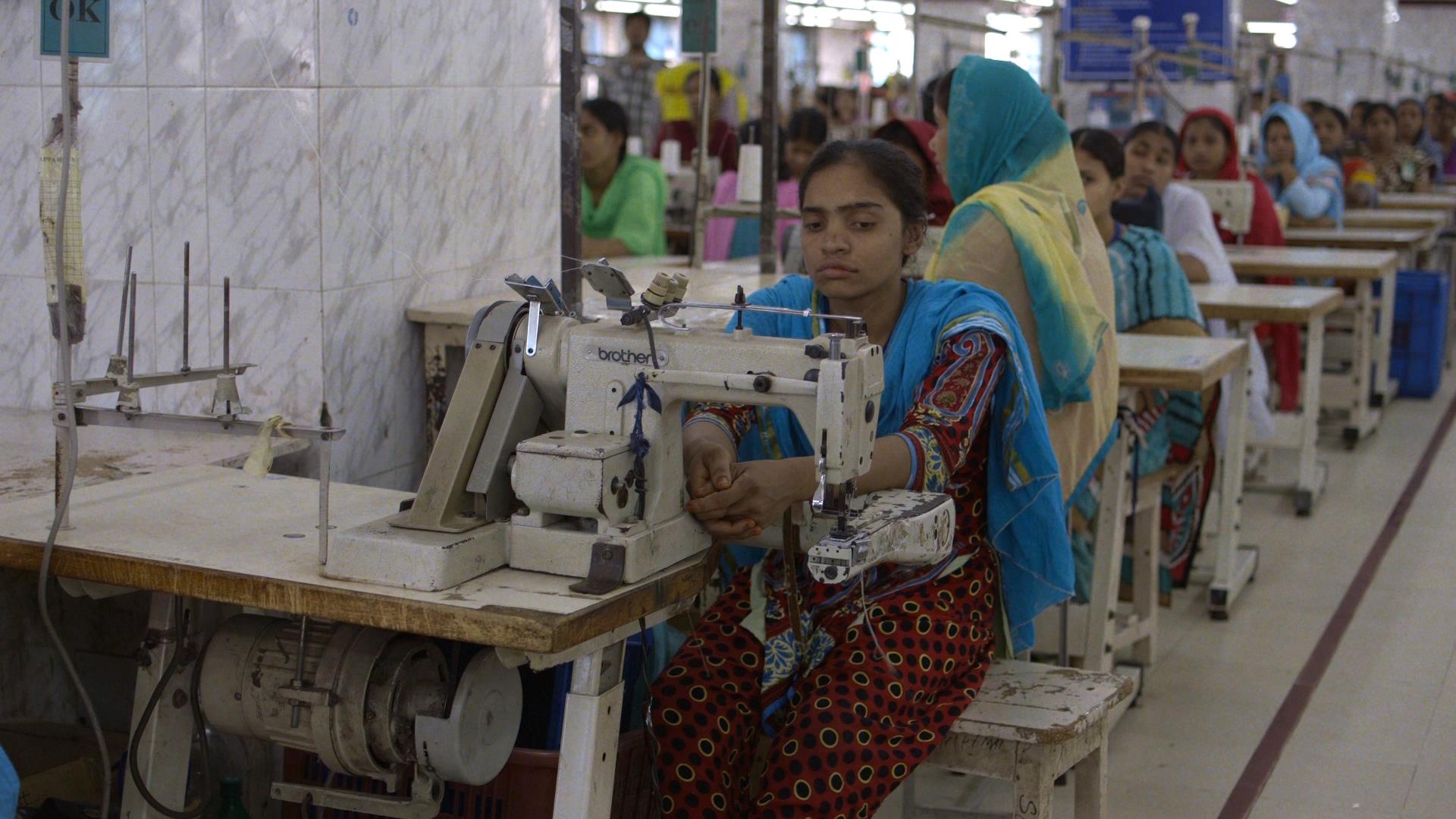 Bangladeshi garment workers. Image credit: www.truecostmovie.com