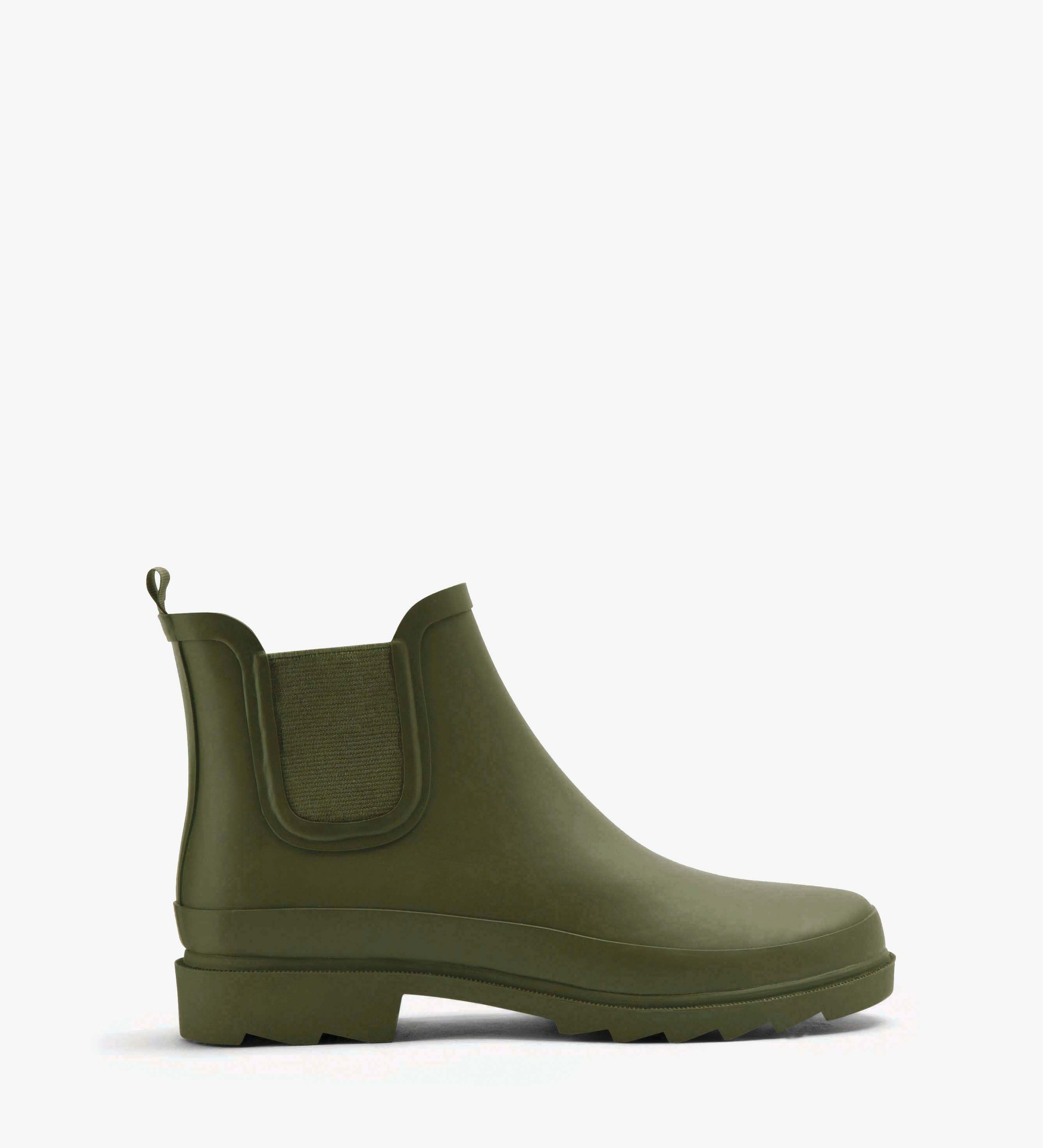 Lane Rubber Boot in Olive - USD $110