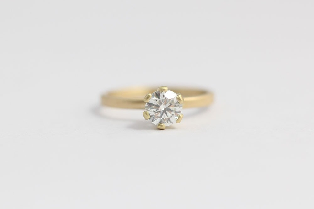 Engagement Ring with Ethical Diamond in 18CT yellow gold $5,500 USD