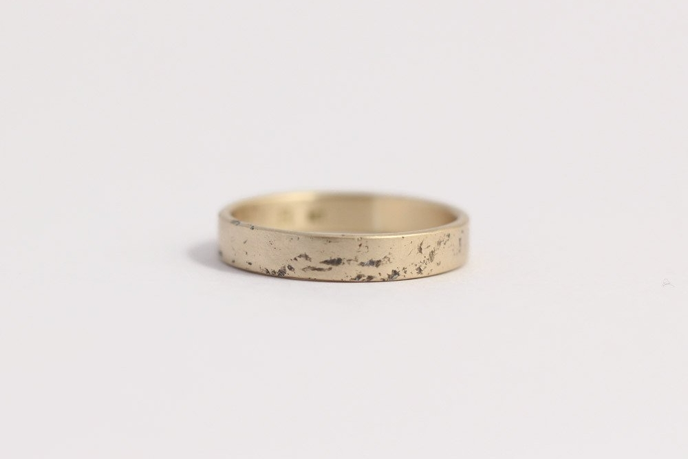 Distressed Band - Narrow, Yellow Gold $295 USD
